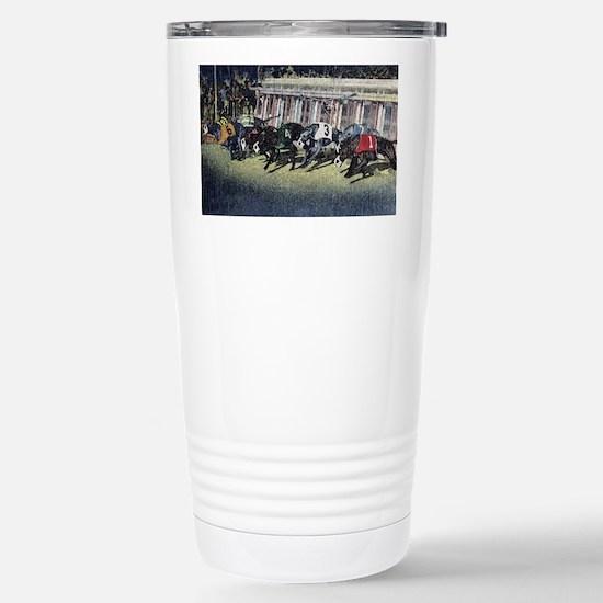 Greyhound Racing Stainless Steel Travel Mug
