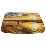 Golden Surf Sunset Bathmat