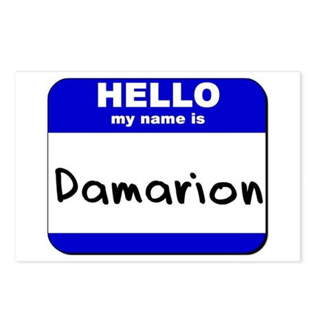 hello my name is damarion Postcards (Package of 8