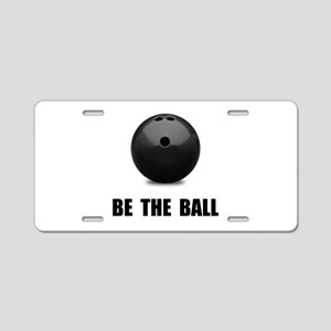 Be Ball Bowling Aluminum License Plate