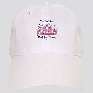 Personalized Tiara 50th Birthday Queen Cap