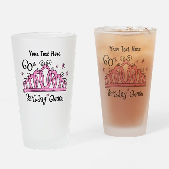 Personalized Tiara 60th Birthday Queen Drinking Gl