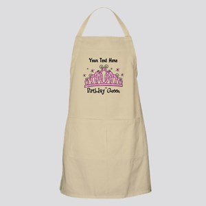 Personalized Tiara Birthday Queen Apron