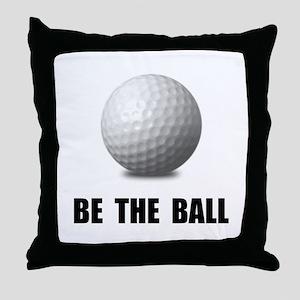 Be Ball Golf Throw Pillow