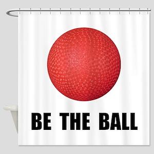 Be Ball Kickball Shower Curtain