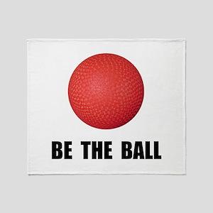 Be Ball Kickball Throw Blanket