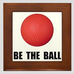 Be Ball Kickball Framed Tile