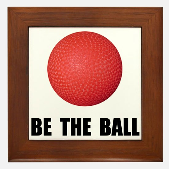 Be Ball Kickball Framed Tile