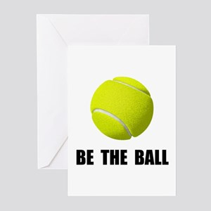 Tennis quotes greeting cards cafepress be ball tennis greeting cards m4hsunfo