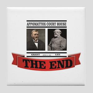 the end at appomattox Tile Coaster