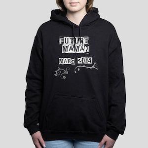 Future maman mars 2014 blanc Hooded Sweatshirt