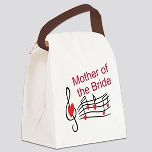Mother Of Bride Music Notes Canvas Lunch Bag
