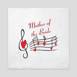 Mother Of Bride Music Notes Queen Duvet