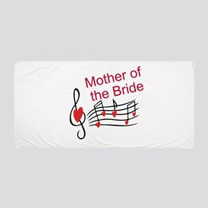 Mother Of Bride Music Notes Beach Towel