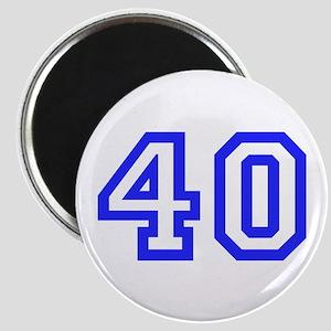 NUMBER 40 Magnet