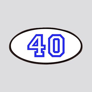 NUMBER 40 Patches