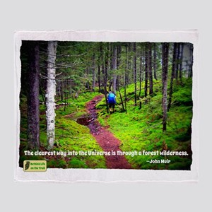 Forest Wilderness Throw Blanket
