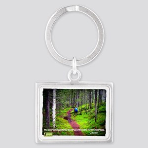 Forest Wilderness Landscape Keychain