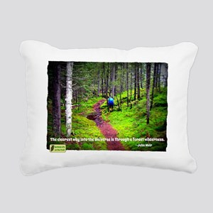 Forest Wilderness Rectangular Canvas Pillow