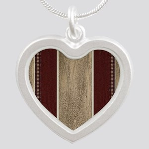 WESTERN PILLOW  40 Silver Heart Necklace