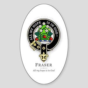 Clan Fraser Oval Sticker