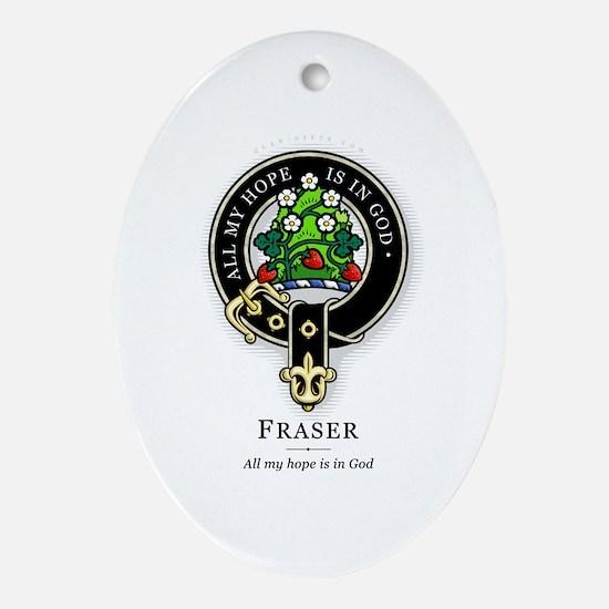 Clan Fraser Oval Ornament