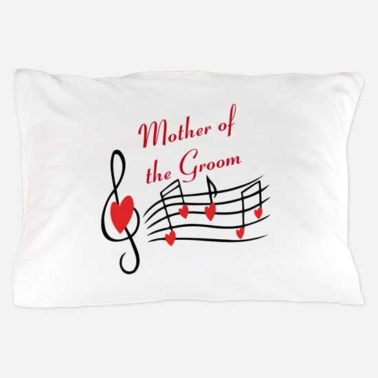 Mother Of Groom Music Notes Pillow Case