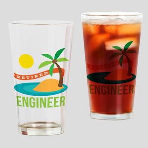 Retired Engineer Drinking Glass