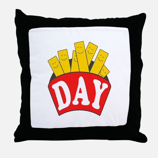 Fry Day Throw Pillow