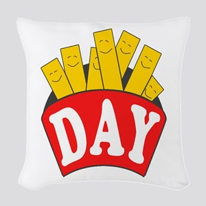 Fry Day Woven Throw Pillow