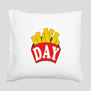 Fry Day Square Canvas Pillow
