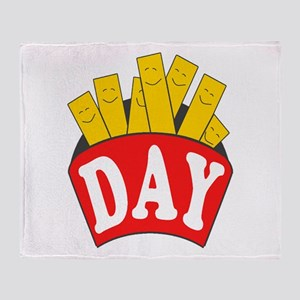 Fry Day Throw Blanket
