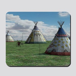 Native American Village Mousepad
