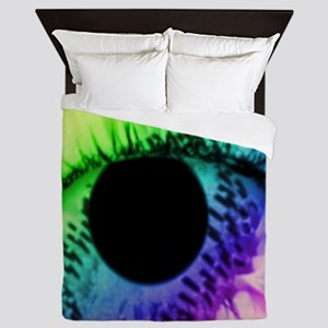 rainbow and eye Queen Duvet