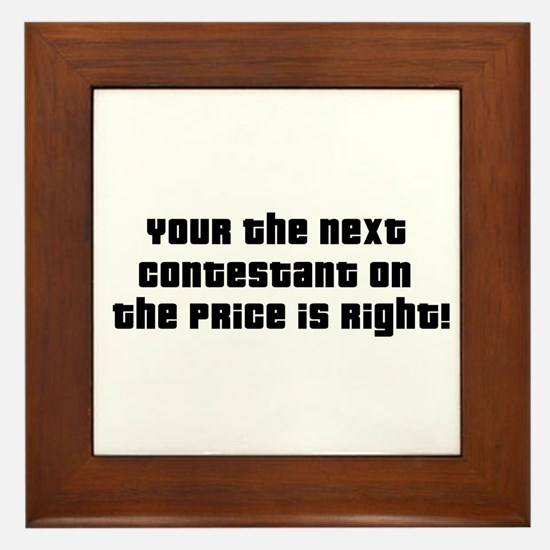 Price Is Right Framed Tile