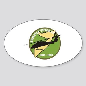 Somalia Veteran Oval Sticker
