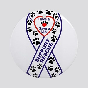 Rescue_Ribbon_Magnet Ornament (Round)