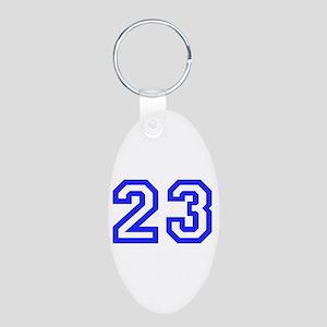 #23 Aluminum Oval Keychain