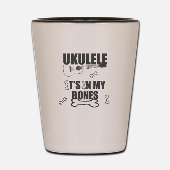 Funny Uke Bones Shot Glass