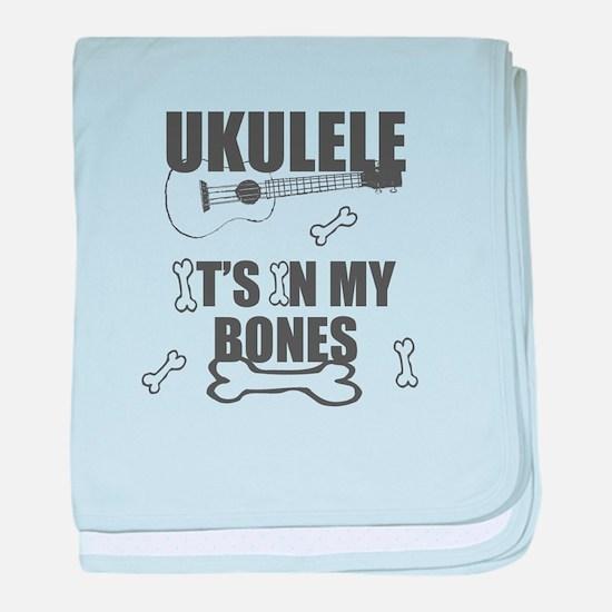Funny Uke Bones baby blanket