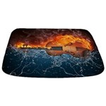 Fire And Water Violin Bathmat