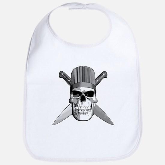 Skull Chef Knives Bib