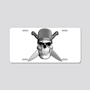 Skull Chef Knives Aluminum License Plate