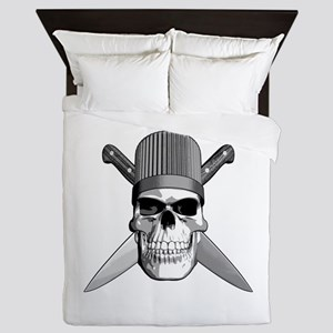 Skull Chef Knives Queen Duvet
