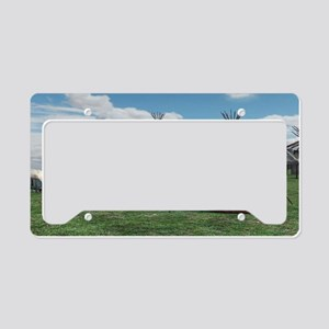 Native American Village License Plate Holder