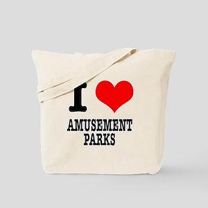 I Heart (Love) Amusement Parks Tote Bag