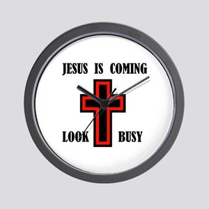 JESUS IS COMING Wall Clock