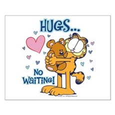 Hugs...No Waiting! Small Poster