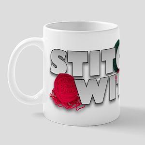 Knitting Stitch Witch Mug