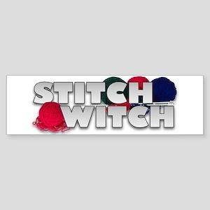Knitting Stitch Witch Bumper Sticker